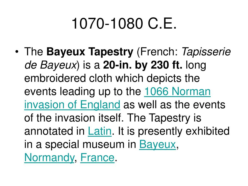 1070-1080 C.E.