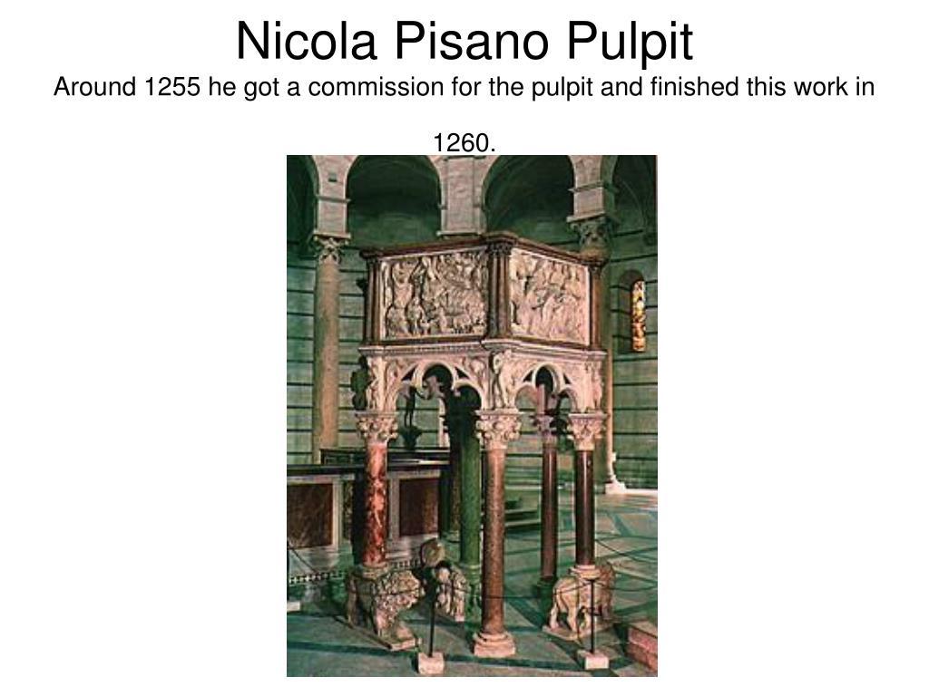 Nicola Pisano Pulpit