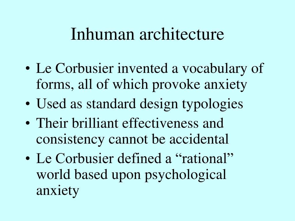 Inhuman architecture