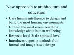 new approach to architecture and education