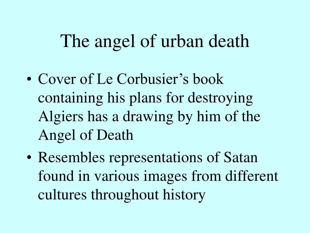 The angel of urban death