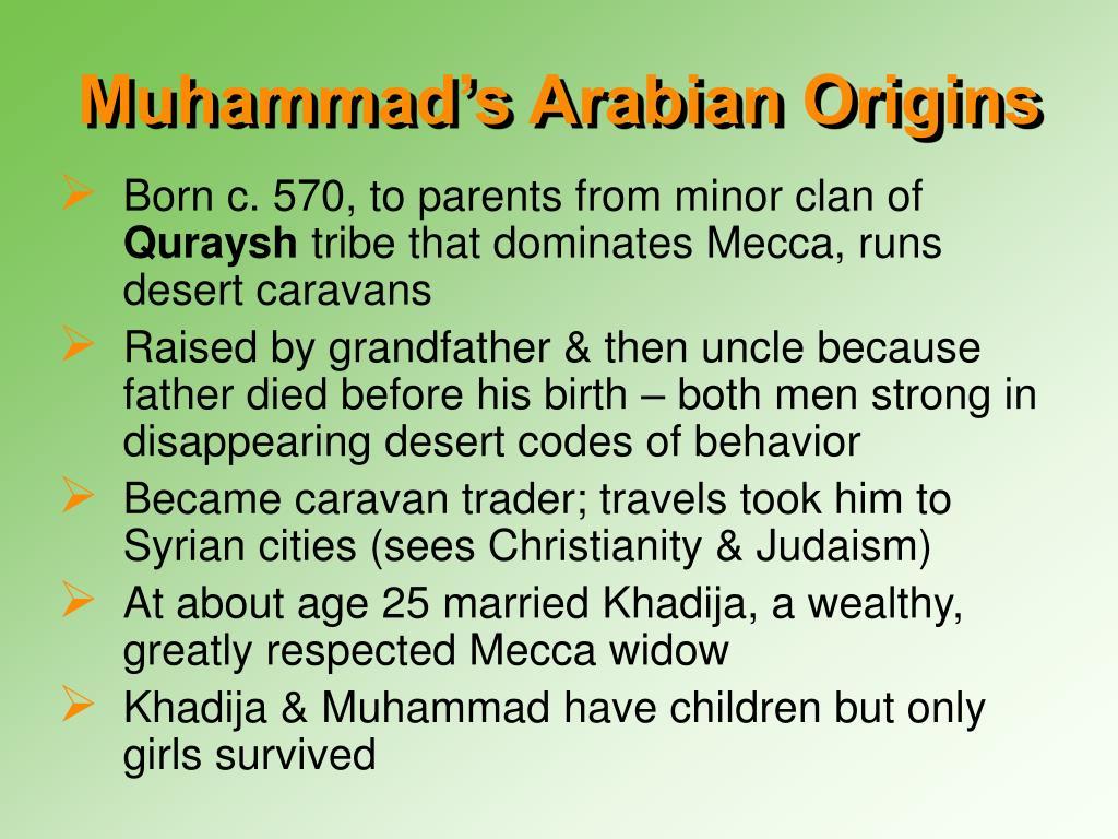 Muhammad's Arabian Origins