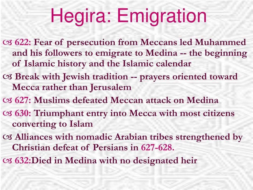 Hegira: Emigration
