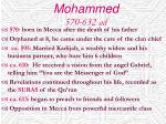 mohammed 570 632 ad
