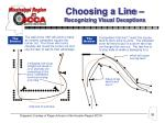 choosing a line recognizing visual deceptions