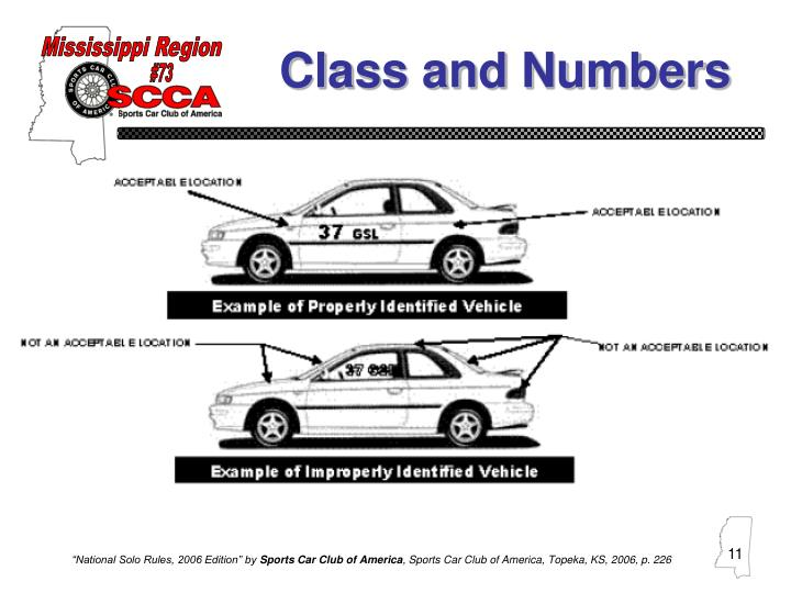 Class and Numbers