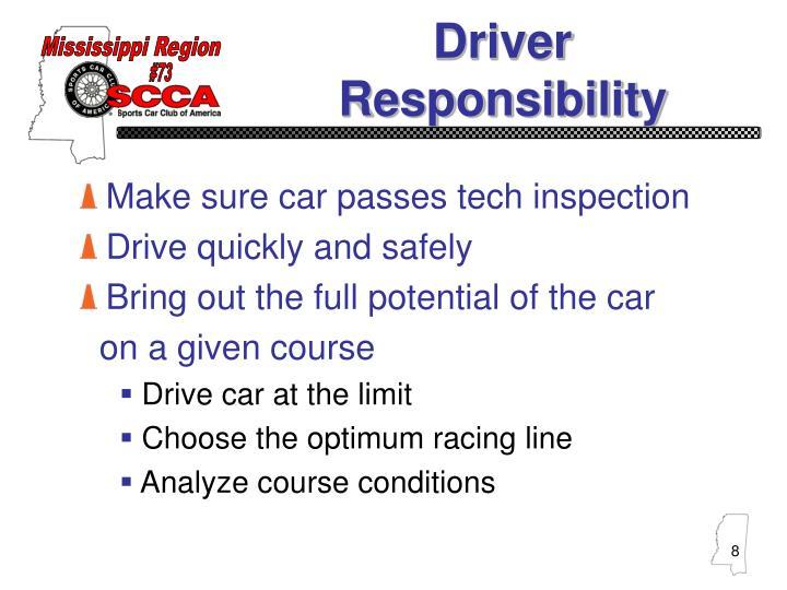 Make sure car passes tech inspection