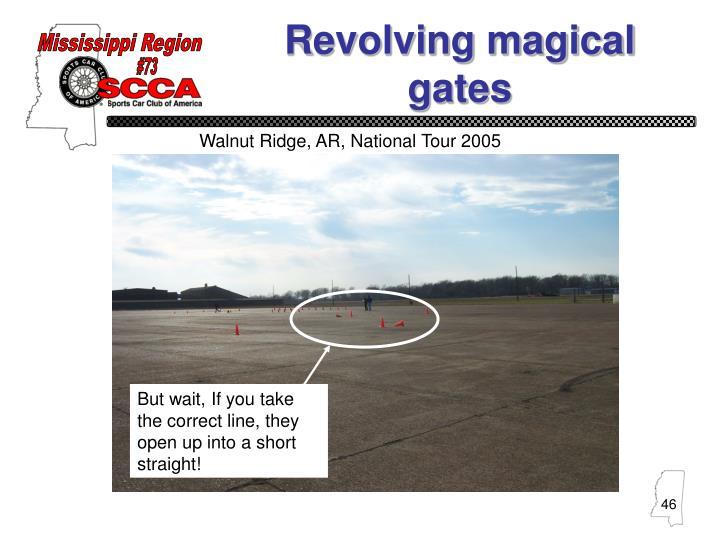 Revolving magical gates