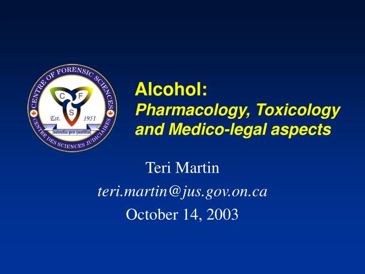 alcohol pharmacology toxicology and medico legal aspects n.