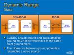 dynamic range noise
