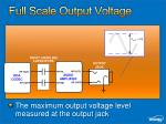 full scale output voltage1