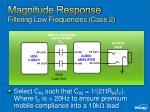 magnitude response filtering low frequencies case 2