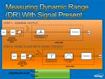 measuring dynamic range dr with signal present