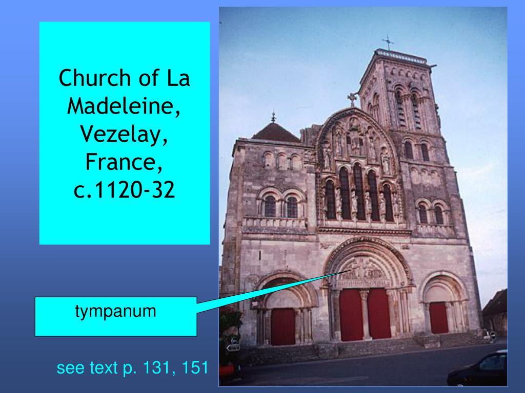 Church of La Madeleine, Vezelay, France, c.1120-32