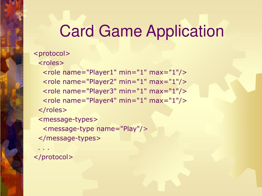 Card Game Application
