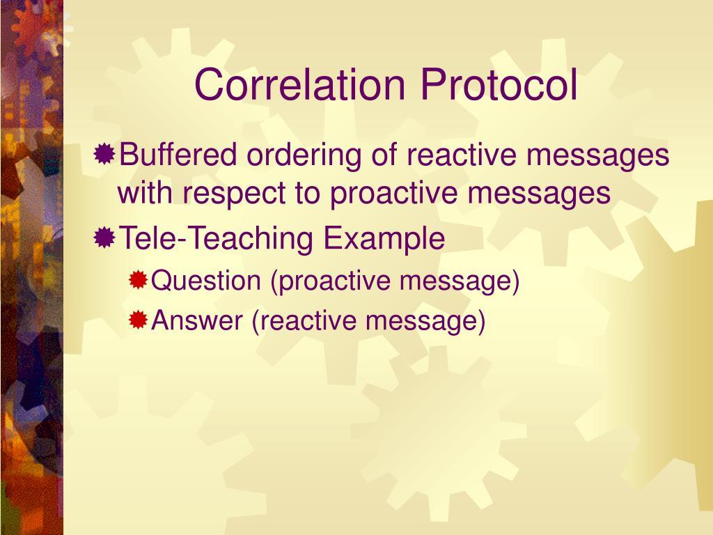 Correlation Protocol
