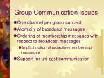 group communication issues