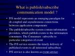 what is publish subscribe communication model