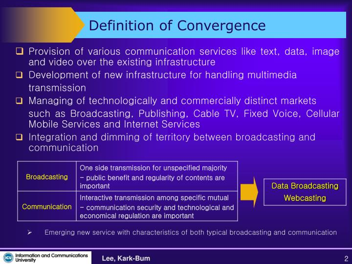 Definition of convergence