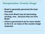 interpretation country image