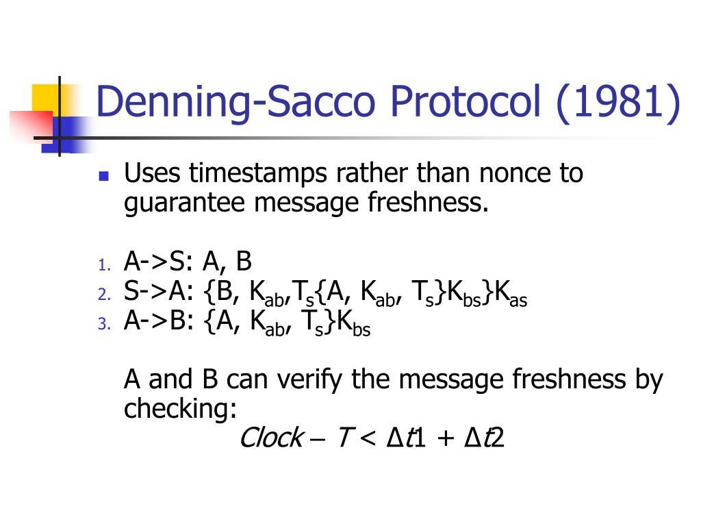 Denning-Sacco Protocol (1981)