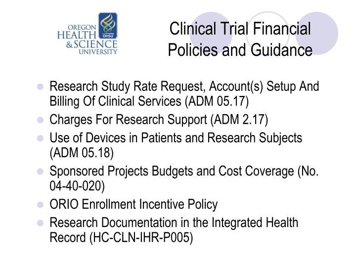 Clinical Trial Financial