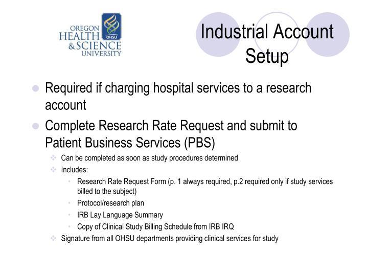 Industrial Account Setup