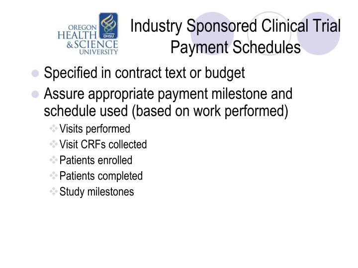 Industry Sponsored Clinical Trial