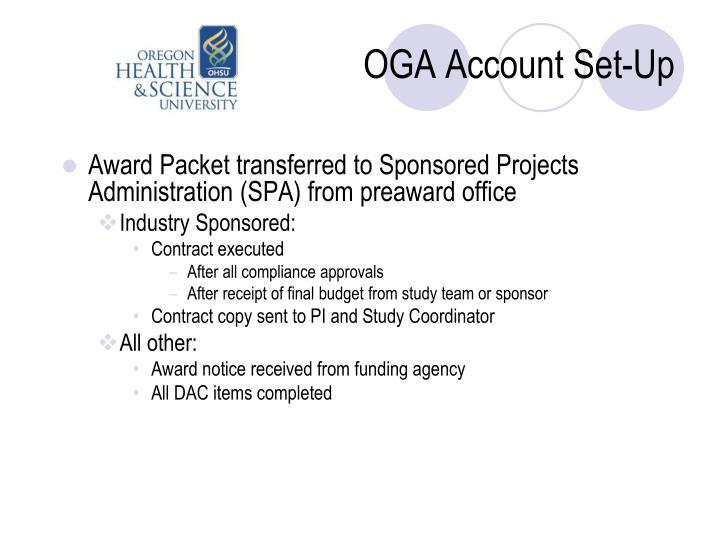 OGA Account Set-Up