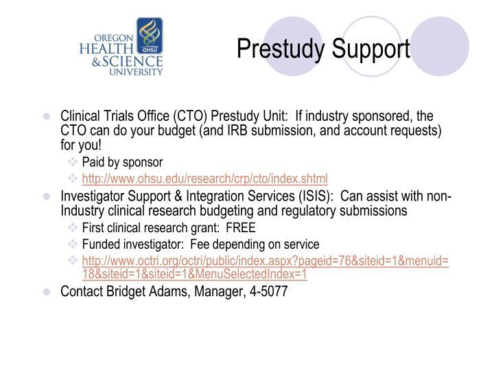 Prestudy Support