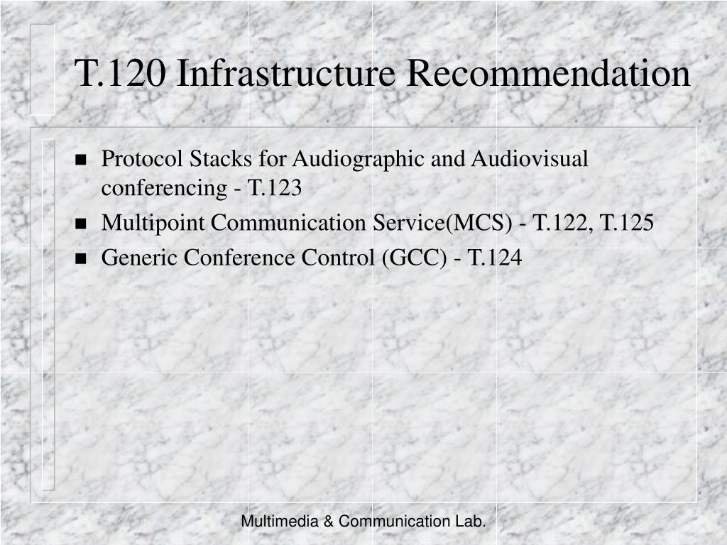 T.120 Infrastructure Recommendation