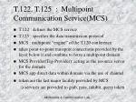 t 122 t 125 multipoint communication service mcs