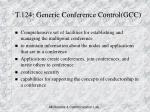 t 124 generic conference control gcc