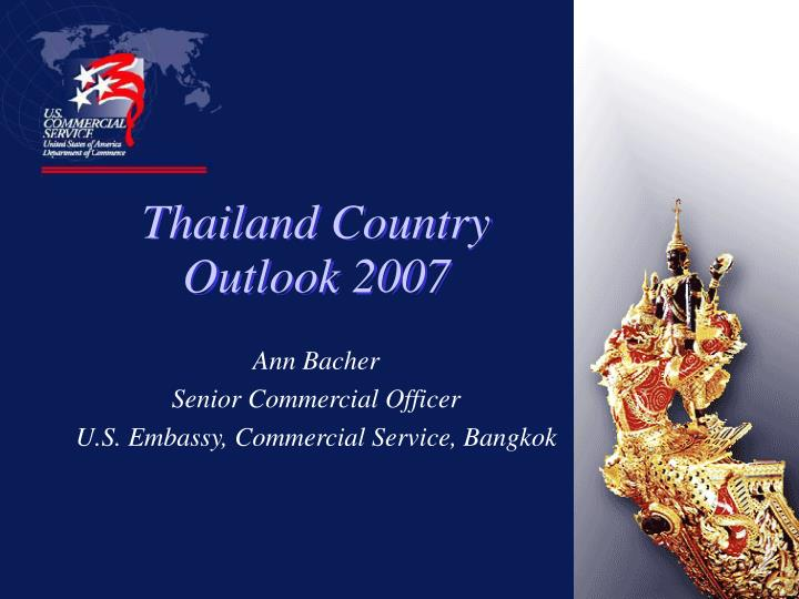 thailand country outlook 2007 n.