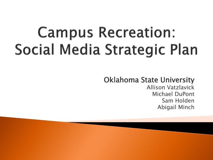 campus recreation social media strategic plan n.