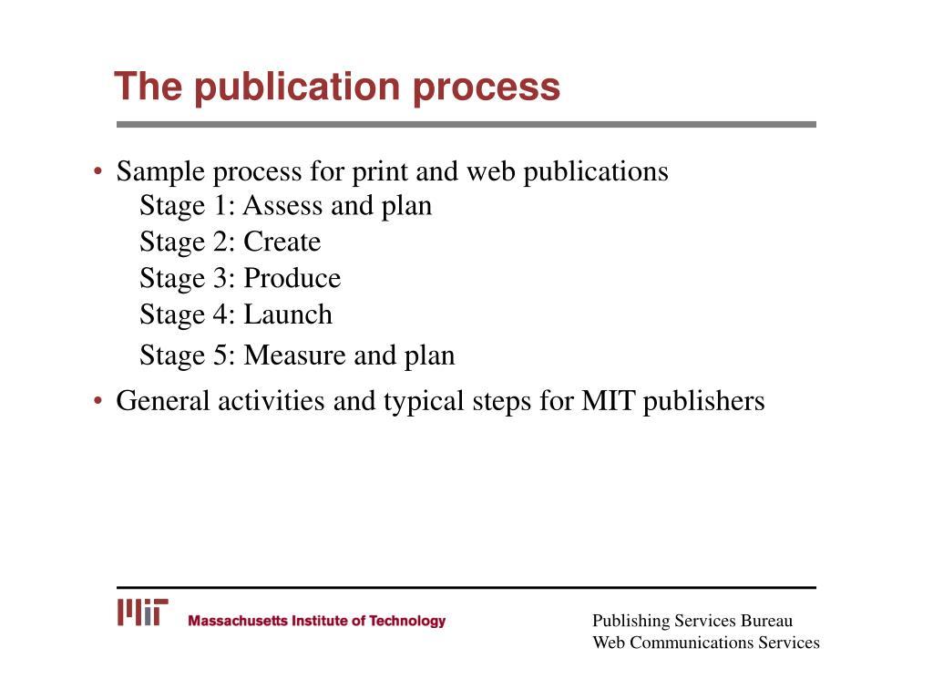 The publication process