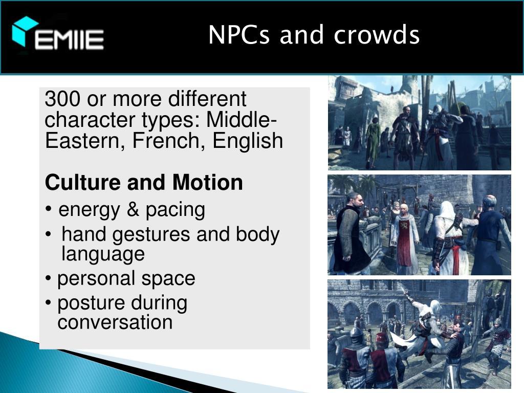 NPCs and crowds
