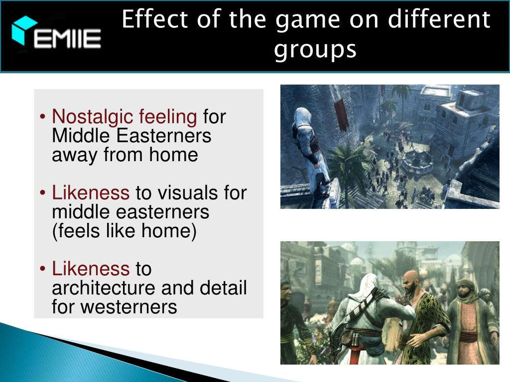 Effect of the game on different groups