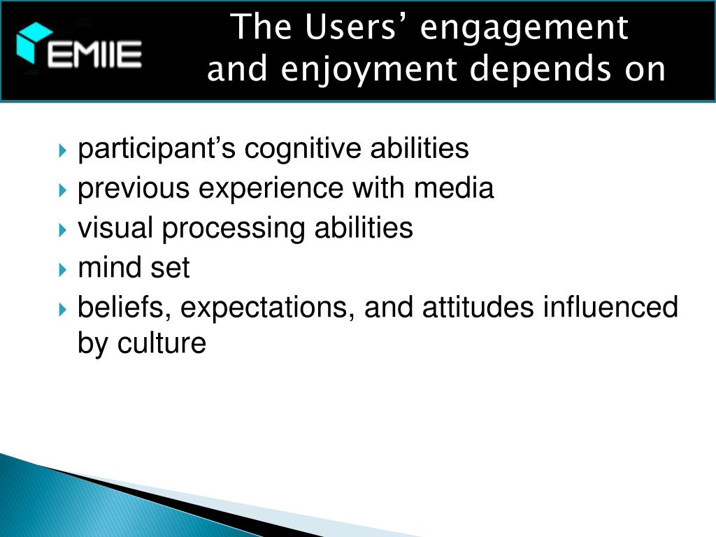The Users' engagement