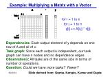 example multiplying a matrix with a vector
