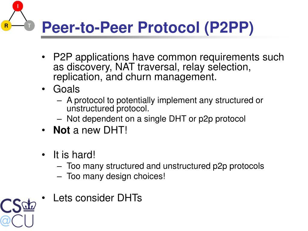 Peer-to-Peer Protocol (P2PP)
