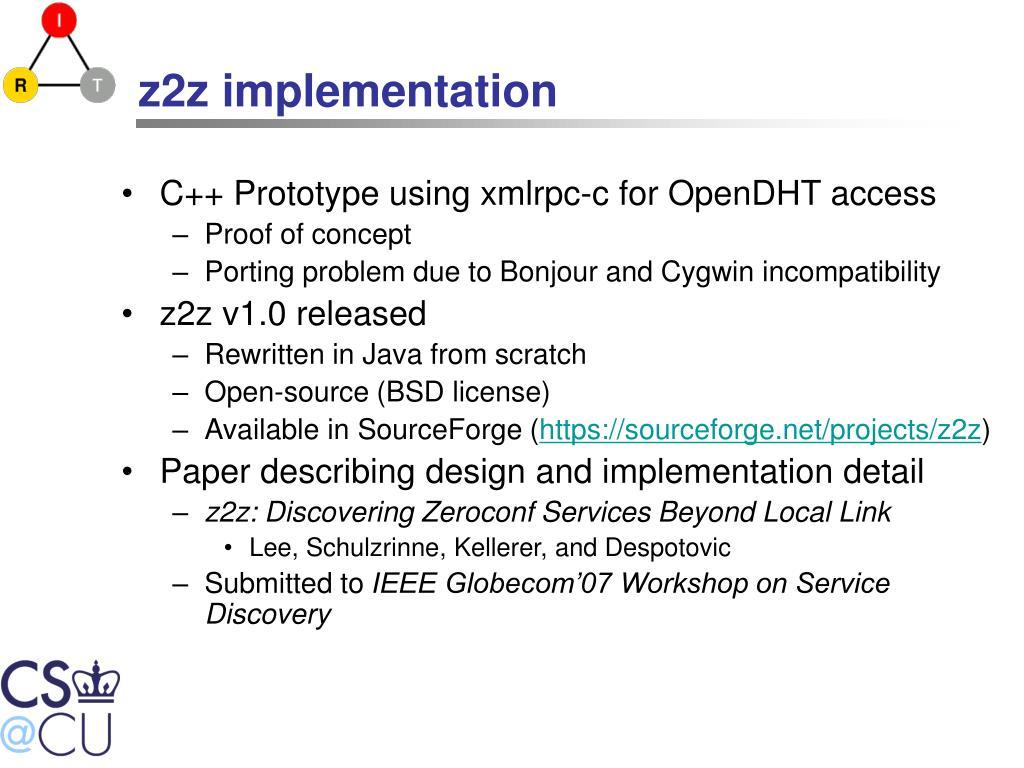 z2z implementation