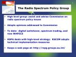 the radio spectrum policy group