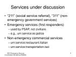 services under discussion