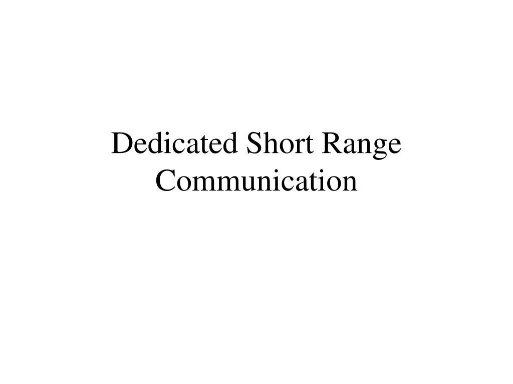 dedicated short range communication