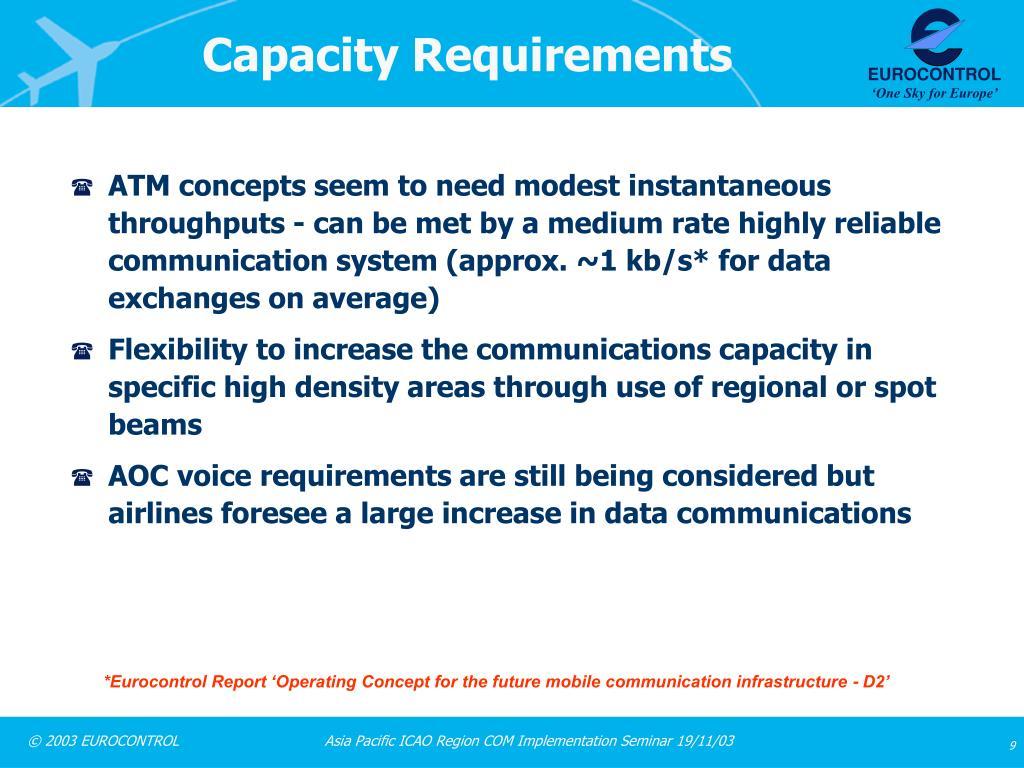 Capacity Requirements