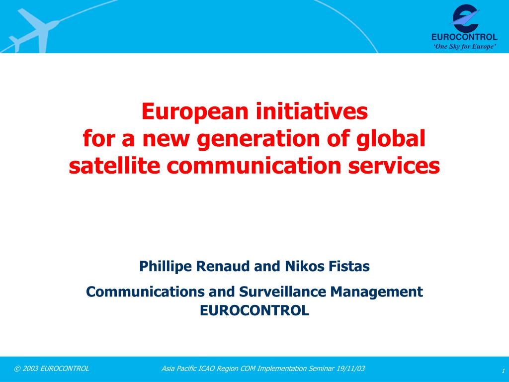 european initiatives for a new generation of global satellite communication services l.
