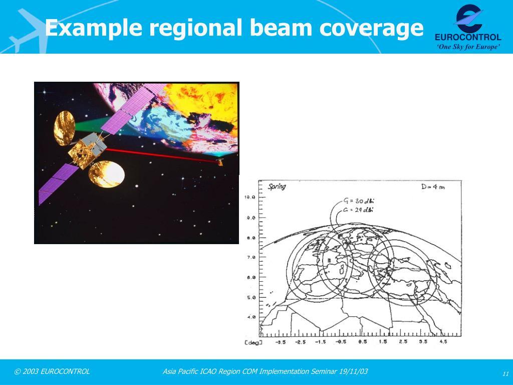 Example regional beam coverage
