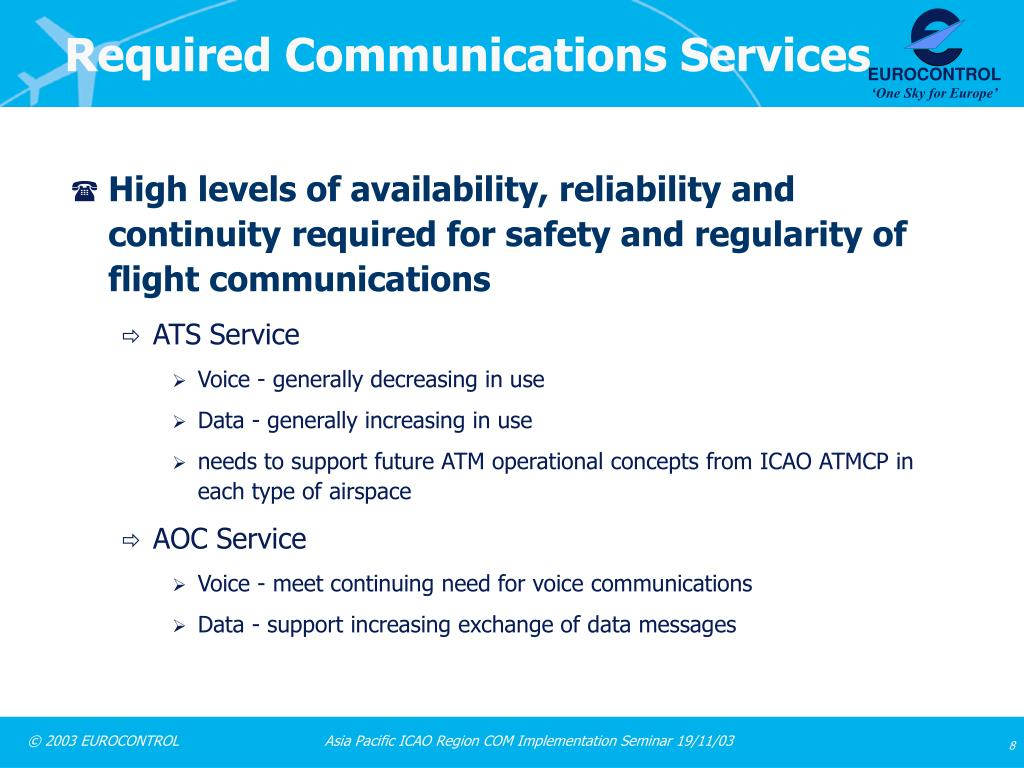 Required Communications Services