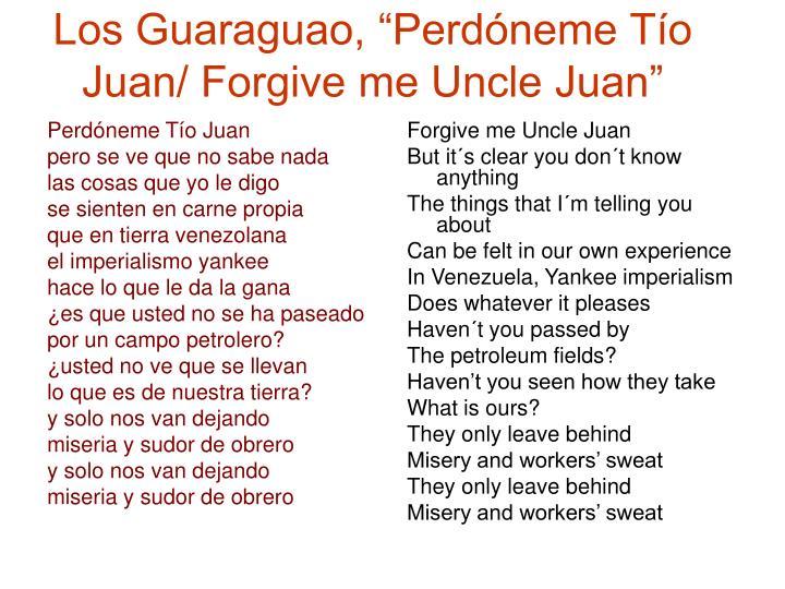Perdóneme Tío Juan